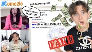 I FAKED being RICH on OMEGLE for a WHOLE WEEK *PRANK*