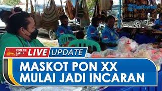 Meski PON XX Papua Belum Resmi Dibuka, Maskot Kangpho dan Drawa Mulai Diincar Pengunjung