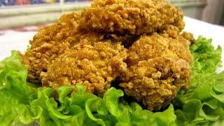 Хрустящие куриные крылышки КФС. Как вкусно приготовить курицу. Соус для курицы