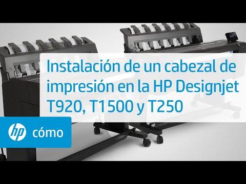 Instalación de un cabezal de impresión en la HP Designjet T920, T1500 y T2500 | HP Printers | HP