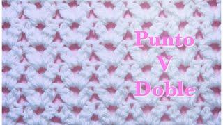 Puntada para mantas / cobijitas / sabanitas de bebé fácil de hacer en gancho / crochet #126