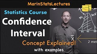 Confidence Interval Concept Explained    Statistics Tutorial #7   MarinStatsLectures