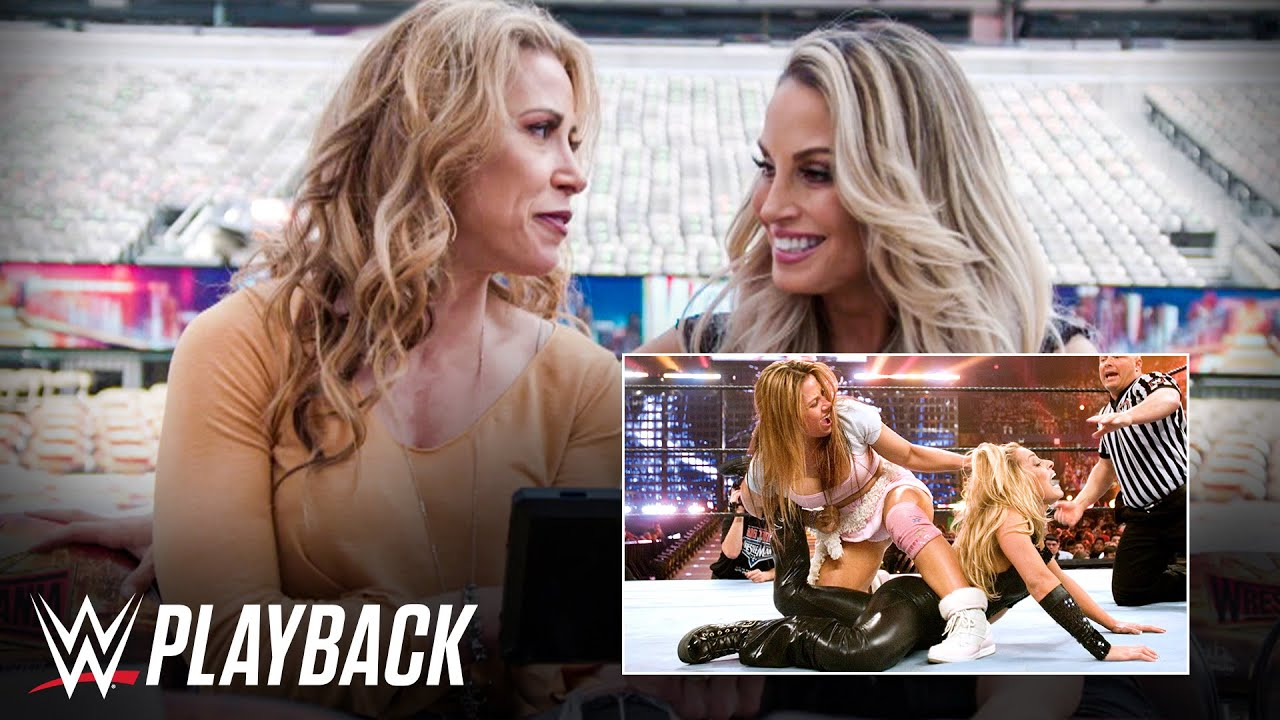 Mickie James and Trish Stratus react to WrestleMania 22 title match: WWE Playback