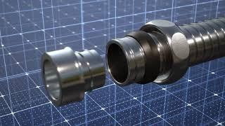 Montage FLEXA Metallverschraubung US System