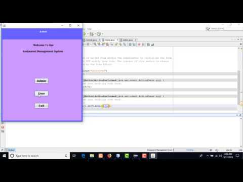 java complete project with source code  Restaurant