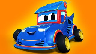 Truck videos for kids -  RACING with a GHOST - Super Truck in Car City !