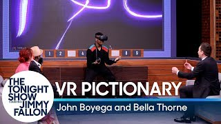 Virtual Reality Pictionary With John Boyega And Bella Thorne