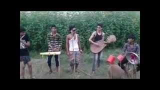 Opu   Asif & Other Local Band Making Fun--Village Band making fun singing a song-2014