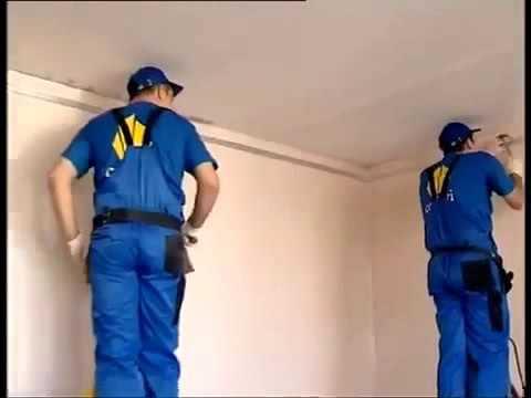 Как устанавливаются натяжные потолки видео