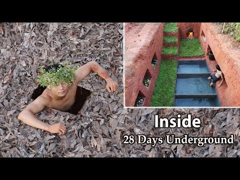 28 Days Build and Living in Secret Underground House