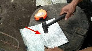 Paano/how to bend GI sheet w/out bending machine||DIY