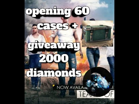 Opening 60 cases on free fire + giveaway 2k diamonds