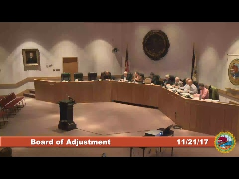Board of Adjustment 11.21.17