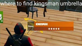 Fortnite Where to find kingsman umbrella (easy)
