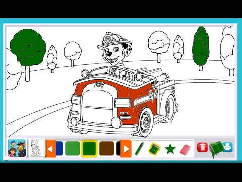 Video Paw Patrol Coloring Pages for Kids - Paw Patrol Coloring Games ...