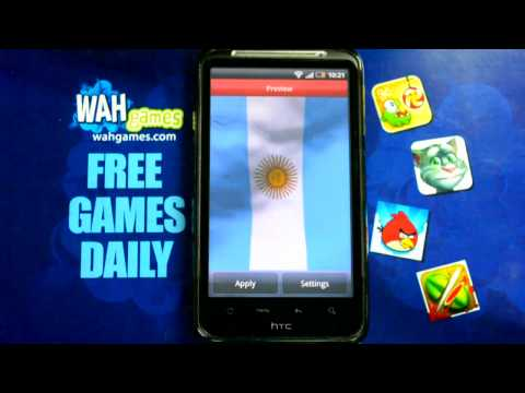 Video of Argentina flag Free lwp