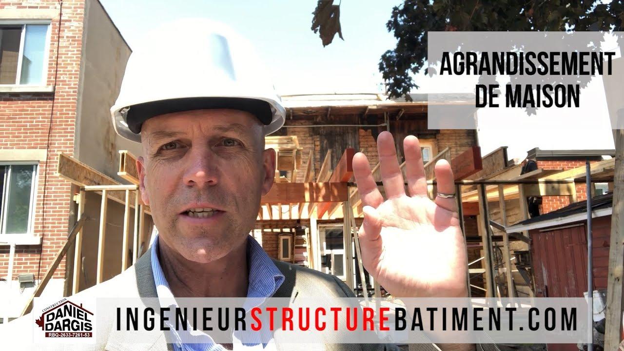 Inspection structure de charpente d'agrandissement - Ingénieur en structure Montréal