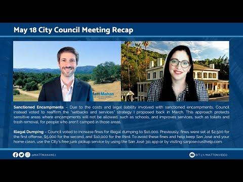 May 18 San Jose City Council Meeting Recap