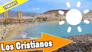 Los Cristianos Tenerife Spain: Tour Of Beach And Resort
