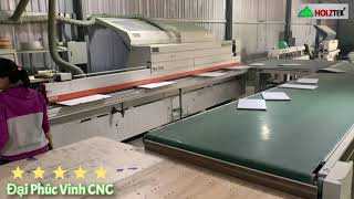 Máy dán cạnh 700A + băng tải hồi phôi   Xưởng sản xuất ván công nghiệp   HOLZTEK