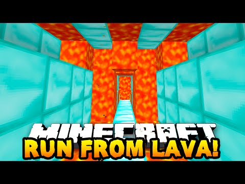 Minecraft RACE AGAINST LAVA PARKOUR! #1 w/PrestonPlayz & Friends!
