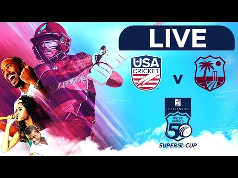 🔴LIVE USA vs West Indies Emerging Players | Colonial Medical Insurance Super50 Cup