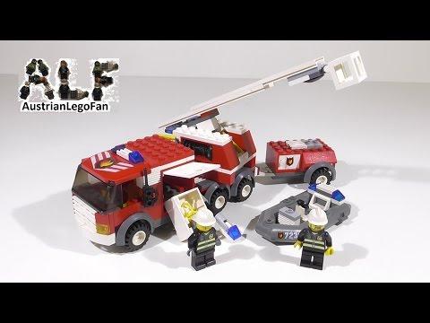 Vidéo LEGO City 7239 : Le camion des pompiers