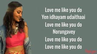 Ellie Goulding - Love Me Like You Do   Hosanna (Vidya Vox Mashup Cover)(Lyrics)