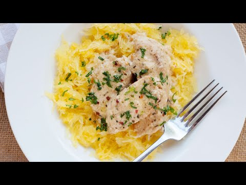 Garlic Chicken with Spaghetti Squash