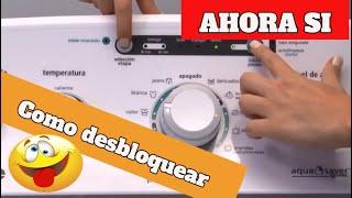 Como desbloquear Falla lavadora Mabe (EASY) Aqua Saver Blanca ¿Se Bloqueo?🥇SOLUCION