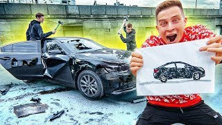 I WILL DESTROY EVERYTHING YOU DRAW !! CHALLENGE! My poor car ...