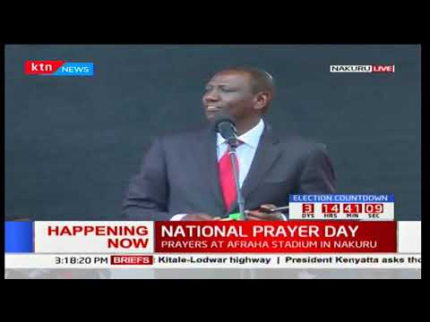 DP Ruto's full speech during the National prayer day in Nakuru