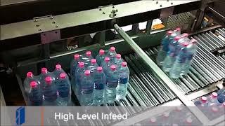 Fibre King Machine: Palletising Shrinkwrapped PET Bottles