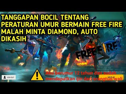 JAWABAN BOCIL DITANYA PERATURAN UMUR BERMAIN FREE FIRE, MALAH DIMINTAIN DIAMOND LANGSUNG DIKASIH