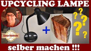 (1/2) Design Lampe aus Holz selber bauen | Upcycling | Teil 1-Vorbereitung-