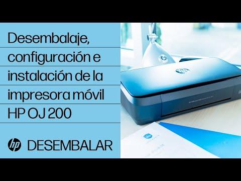 Desembalaje, configuración e instalación de la impresora móvil HP OfficeJet 200