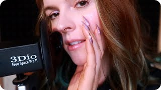 ASMR Soft/Slow Breathing & Ear Blowing for Anxiety Relief and Relaxation (White Noise) 💜