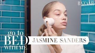 Golden Barbie Jasmine Sanders' Nighttime Skincare Routine   Go To Bed With Me   Harper's BAZAAR
