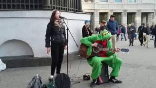 Супер Вокалистка Уличные Музыканты Питер