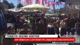 MHP kurmayları 4 ilçeyi ziyaret etti, başkan adaylarına destek istedi