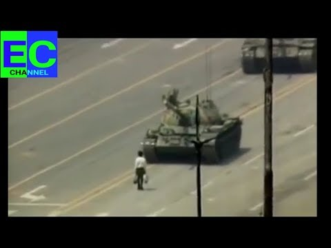 The Tiananmen Square photo has been getting posted a lot lately. The video is the most powerful.