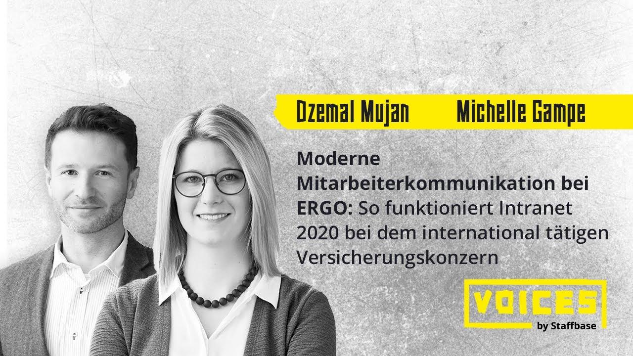 Michelle Gampe & Dzemal Mujan: Moderne Mitarbeiterkommunikation bei ERGO
