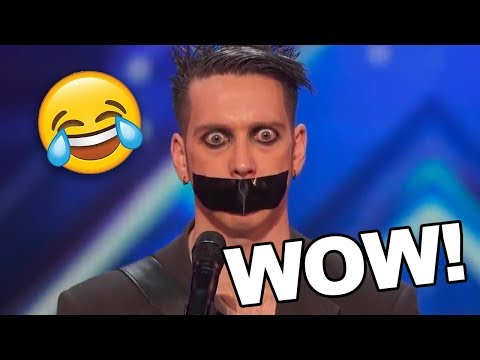 TAPE FACE! HILARIOUS AUDITION HAS EVERYONE IN STITCHES! (видео)