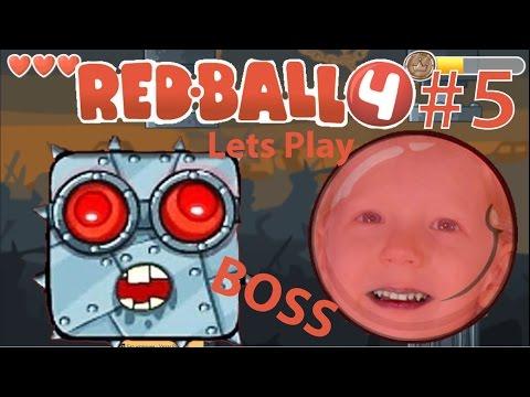 Играем в игру Red ball 4 Красный мяч Часть #5 КОНЕЦ, The End! ГЛАВНЫЙ БОСС! видео