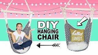 How To Make A Hanging Chair | DIY Room Decor Ideas For Teens