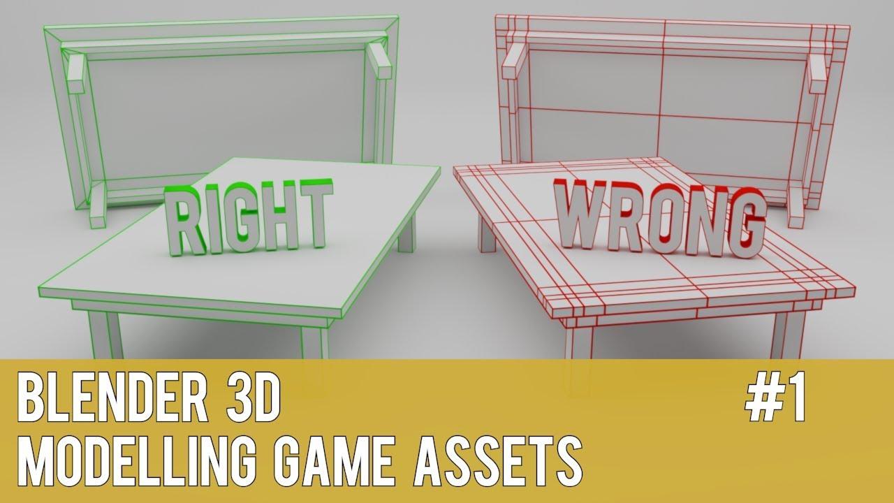 Blender 3D - How to make - Modelling Game Assets - Medium Tutorial