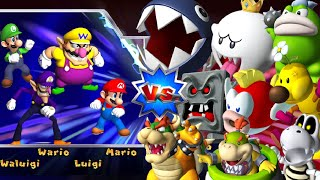 Mario Party 9 - Boss Rush - All Boss Battles (Vs. Master CPU)
