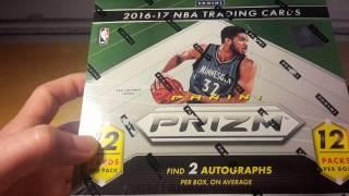 Panini NBA Prizm Basketball 2016-17 Jumbo Hobby Box Break and Review