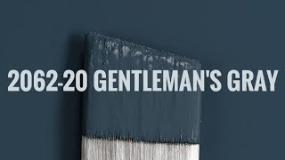 BENJAMIN MOORE GENTLEMANS GRAY | Navy Blue Paint Color Review