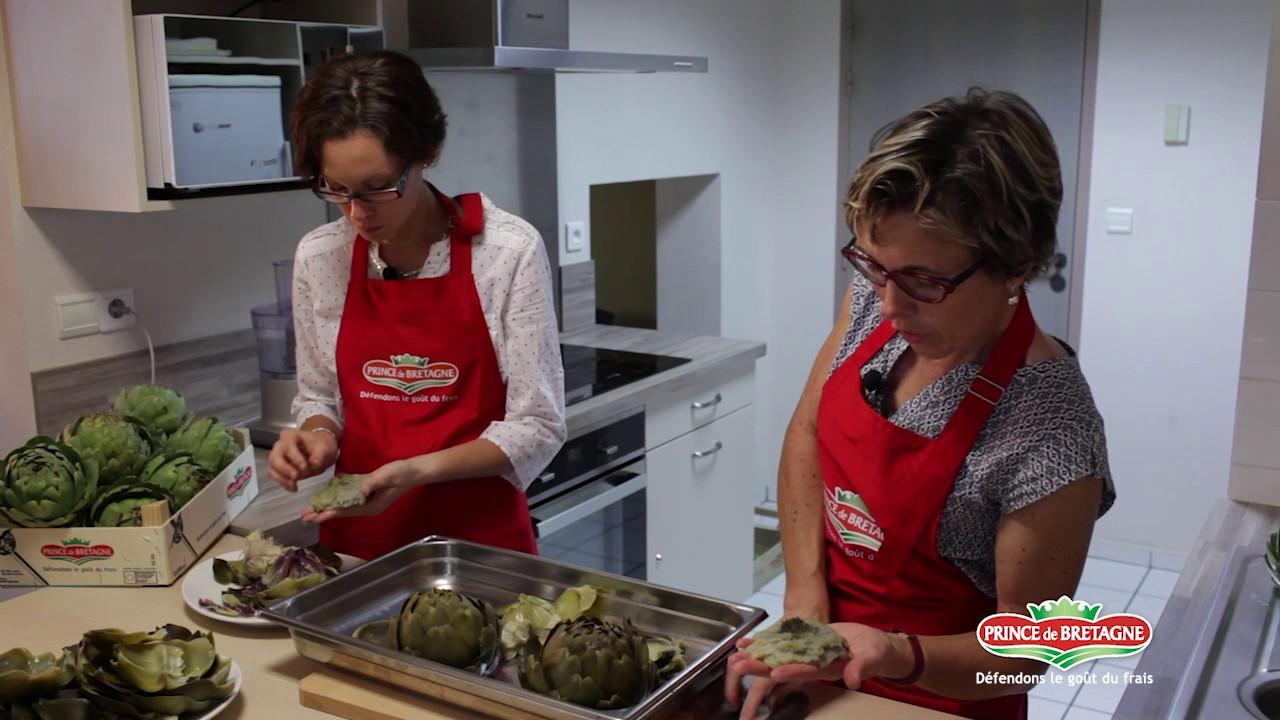 Caviar d'artichauts préparé par les productrices Prince de Bretagne